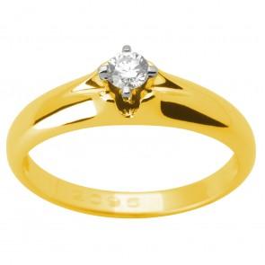 Каблучка з 1 діамантом 321-1635