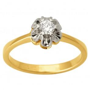 Каблучка з 1 діамантом 321-1690