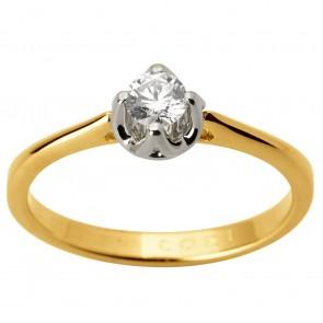 Каблучка з 1 діамантом 321-1742