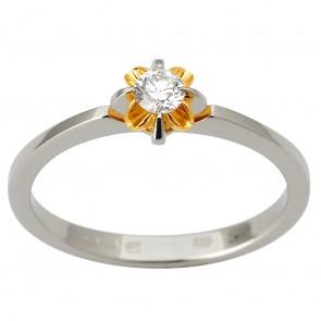 Кольцо с 1 бриллиантом 321-1821