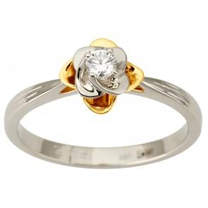 Кольцо с 1 бриллиантом 321-1890