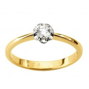 Каблучка з 1 діамантом 321-1906