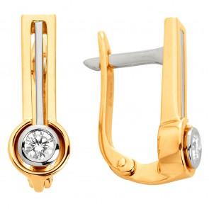 Сережки з 1 діамантом 322-0872