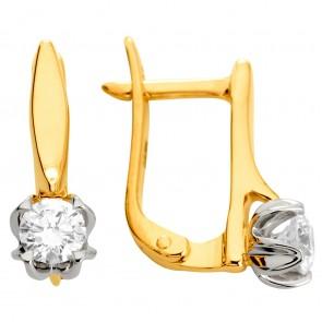 Сережки з 1 діамантом 322-1172