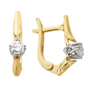 Сережки з 1 діамантом 322-1286