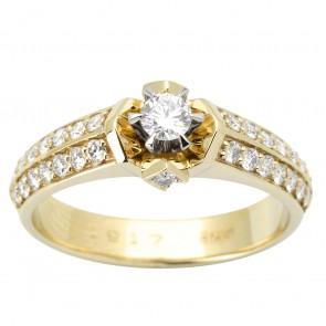 Каблучка з декількома діамантами 341-1611