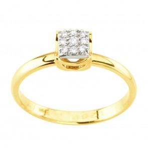 Каблучка з декількома діамантами 341-3001