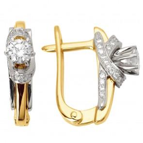 Сережки з декількома діамантами 342-0779