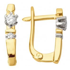 Сережки з декількома діамантами 342-0791