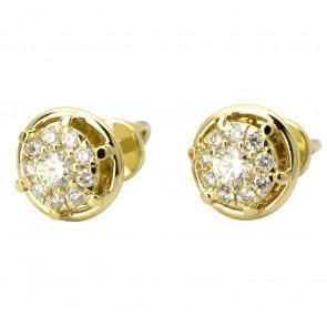 Сережки з декількома діамантами 342-2005