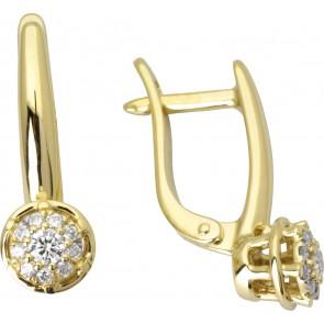 Сережки з декількома діамантами 342-2006