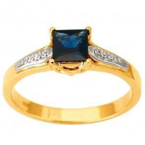 Каблучка з діамантами та кольоровим камінням 381-1891