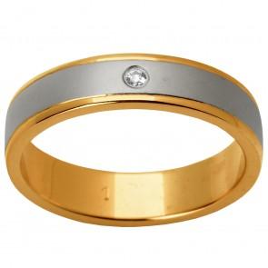 Обручальное кольцо с 1 бриллиантом 821-0305