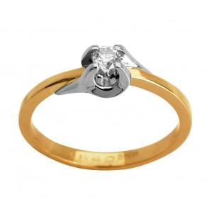 Каблучка з 1 діамантом 821-0877