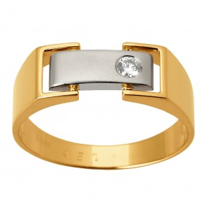 Перстень з 1 діамантом 821-1343