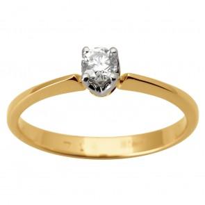 Каблучка з 1 діамантом 821-1685