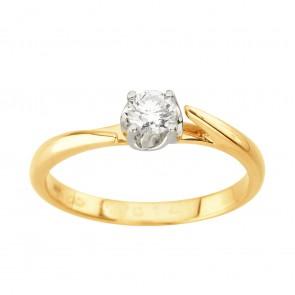 Каблучка з 1 діамантом 821-1995