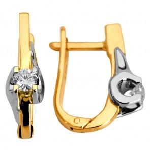 Сережки з 1 діамантом  822-0388