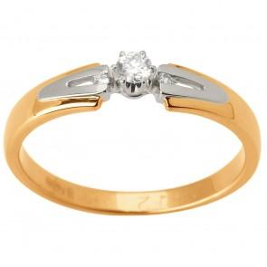 Каблучка з декількома діамантами 841-1560