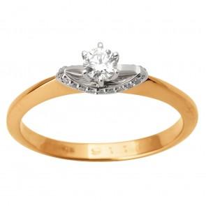 Каблучка з декількома діамантами 841-1734