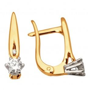 Сережки з декількома діамантами 842-0956