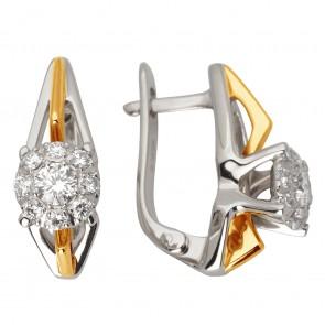 Сережки з декількома діамантами 842-0976