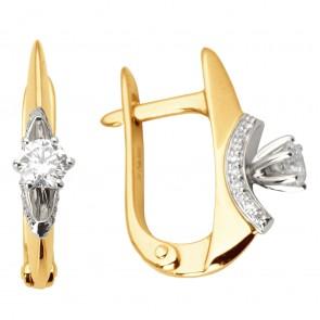 Сережки з декількома діамантами 842-0992
