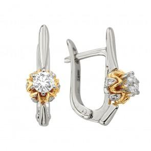 Сережки з декількома діамантами 842-1327