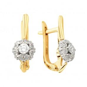 Сережки з декількома діамантами 842-1349