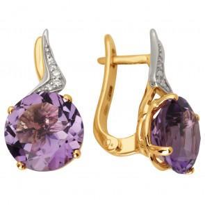Сережки з діамантами та кольоровим камінням 882-1035