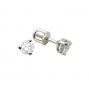 Сережки з 1 діамантом 922-0053