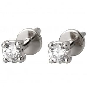 Сережки з 1 діамантом 922-0961