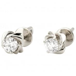 Сережки з 1 діамантом 922-1129