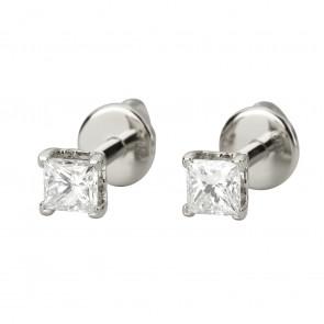 Сережки з 1 діамантом 922-1160