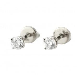 Сережки з 1 діамантом 922-1306