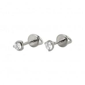 Сережки з 1 діамантом 922-1397