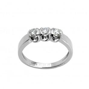 Каблучка з декількома діамантами 941-0626