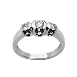 Каблучка з декількома діамантами 941-0647