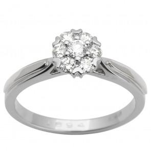 Каблучка з декількома діамантами 941-1613