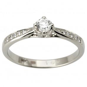 Каблучка з декількома діамантами 941-1869