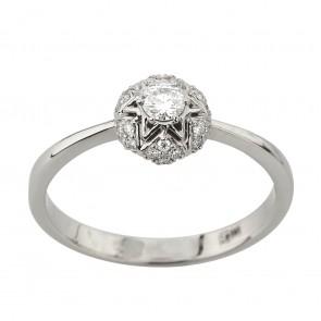 Каблучка з декількома діамантами 941-2204