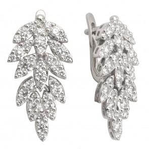 Сережки з декількома діамантами 942-0218