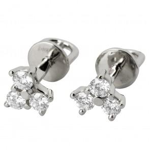 Сережки з декількома діамантами 942-0603