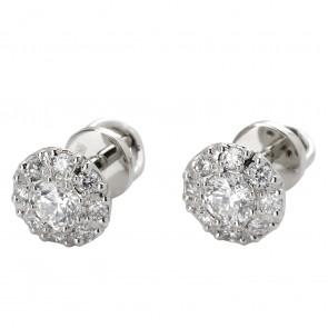 Сережки з декількома діамантами 942-0678