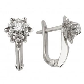 Сережки з декількома діамантами 942-0832