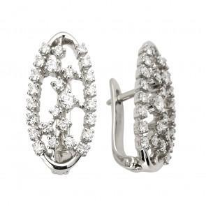 Сережки з декількома діамантами 942-0854
