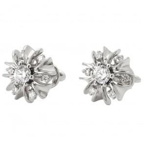 Сережки з декількома діамантами 942-0871