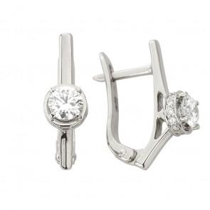 Сережки з декількома діамантами 942-1334