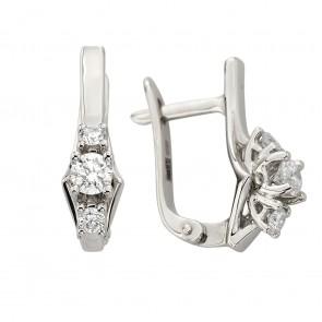 Сережки з декількома діамантами 942-1337