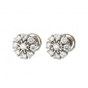 Сережки з декількома діамантами 942-1425